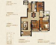 恒大悦珑湾3室2厅2卫128平方米户型图