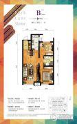 华润幸福里2室2厅1卫98平方米户型图