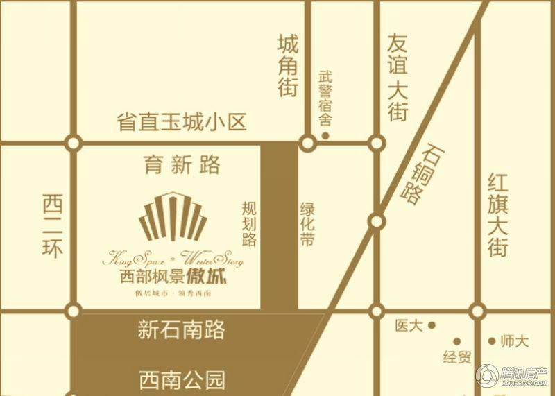 西部枫景傲城区位图