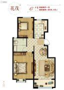 美力理想城2室2厅1卫0平方米户型图