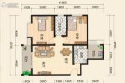富绅世纪山江2室2厅1卫0平方米户型图