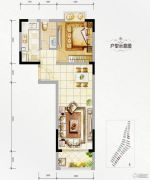 万达西双版纳国际度假区1室1厅1卫61平方米户型图