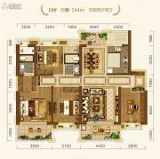 中建・宜昌之星4室2厅2卫164平方米户型图