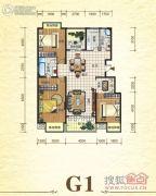 元森北新时代3室2厅2卫158平方米户型图