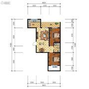 步阳江南甲第2室2厅1卫81平方米户型图