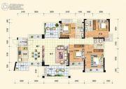 中通水岸4室2厅3卫154平方米户型图