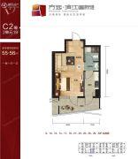 滨江国际1室1厅1卫0平方米户型图