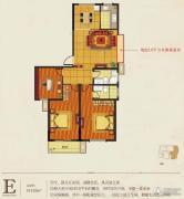华庭常青墅3室2厅2卫132平方米户型图