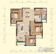 均瑶・御景天地3室2厅1卫88平方米户型图