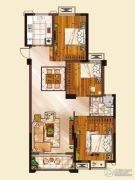 山水华庭3室2厅1卫97平方米户型图
