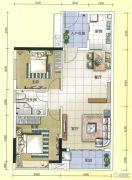 元邦明月水岸2室2厅1卫85平方米户型图