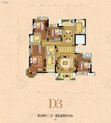 银河名苑4室2厅3卫182平方米户型图