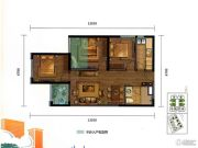 万科魅力之城3室2厅1卫81平方米户型图