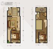 香溪左岸3室2厅2卫65平方米户型图