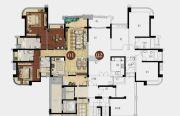 雅居乐剑桥郡3室2厅3卫146平方米户型图