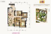合景新鸿基泷景4室2厅2卫133平方米户型图