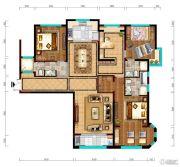 阳光城市・晶海园4室2厅3卫168平方米户型图