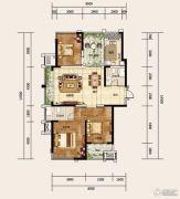 建业龙城3室2厅2卫128平方米户型图