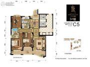 百川・润城2室2厅2卫0平方米户型图