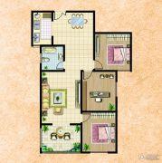 楚河花园3室2厅1卫132平方米户型图