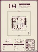 远洋城1室1厅1卫74平方米户型图
