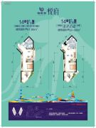 海悦湾1室1厅1卫52--61平方米户型图
