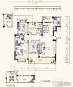 泰达・润景园3室2厅2卫131--132平方米户型图