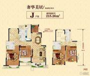冠景瑞园4室2厅4卫215平方米户型图