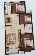 天洲视界城3室2厅1卫122平方米户型图