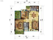 万象国际城2室2厅1卫93平方米户型图