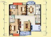 雅博世纪广场3室2厅2卫126平方米户型图
