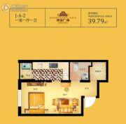 荣安广场1室1厅1卫39平方米户型图