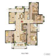 新田城4室2厅2卫169平方米户型图