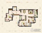 美岸观邸3室2厅2卫124平方米户型图