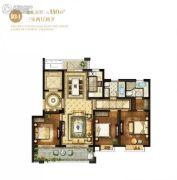 翠湖天地3室2厅2卫140平方米户型图
