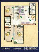 美巢蓝钻3室2厅2卫169平方米户型图
