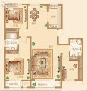 新华联雅园3室2厅2卫156平方米户型图