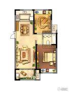 绿地峰云汇2室2厅1卫90平方米户型图
