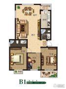 公园世家3室2厅2卫125--127平方米户型图