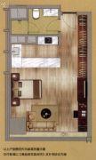 中鼎・君和名城1室0厅1卫56平方米户型图