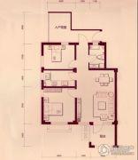 戴河林语2室2厅1卫88平方米户型图