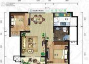 紫韵东城2室2厅1卫93平方米户型图