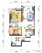 丽水南珠花园2室2厅1卫79平方米户型图