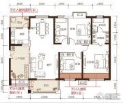 松江帕提欧3室2厅2卫140平方米户型图