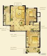 诚河新旅城2室1厅1卫87平方米户型图