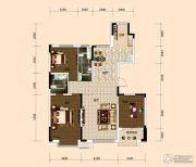 西湖一号3室2厅2卫141平方米户型图
