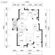 江南名苑4室2厅2卫143平方米户型图