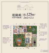 碧桂园十里江南2室2厅2卫0平方米户型图