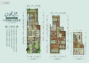 保利山庄梧桐4室2厅4卫289平方米户型图