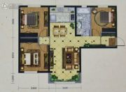 海亮熙岸华府3室2厅1卫95--99平方米户型图